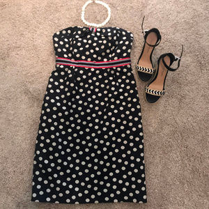 Anthropologie Maeve Strapless Polka Dot Dress 6